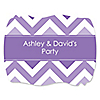 Chevron Purple - Personalized Everyday Party Squiggle Stickers - 16 ct