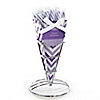 Chevron Purple - Everyday Party Candy Bouquets with Sticklettes