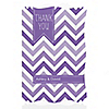 Chevron Purple - Personalized Everyday Party Thank You Cards