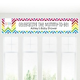 Rainbow Chevron - Personalized Baby Shower Banner