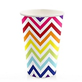 Chevron Rainbow - Baby Shower Hot/Cold Cups - 8 Pack