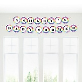 Rainbow Chevron - Personalized Baby Shower Garland Banner