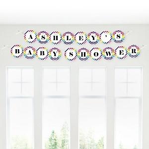 Rainbow Chevron - Personalized Baby Shower Garland Banner