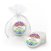 Rainbow Chevron - Lip Balm Personalized Baby Shower Favors