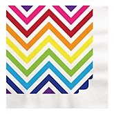 Rainbow Chevron - Baby Shower Luncheon Napkins - 16 Pack