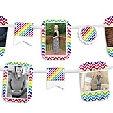 Rainbow Chevron - Baby Shower Photo Bunting Banner