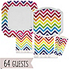 Chevron Rainbow - Everyday Party 64 Big Dot Bundle