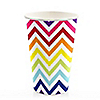 Chevron Rainbow - Everyday Party Hot/Cold Cups - 8 ct