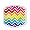 Chevron Rainbow - Everyday Party Dessert Plates - 8 ct