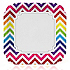 Chevron Rainbow - Everyday Party Dinner Plates - 8 ct