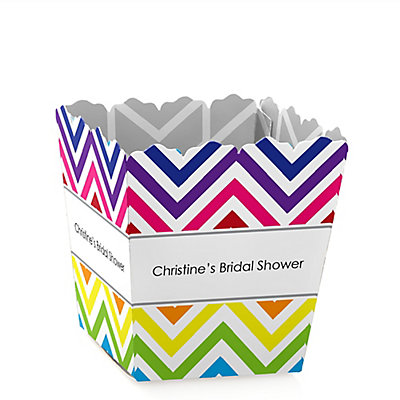 Chevron Rainbow - Personalized Bridal Shower Candy Boxes...