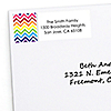 Chevron Rainbow - Personalized Everyday Party Return Address Labels - 30 ct