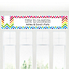 Chevron Rainbow - Personalized Everyday Party Banners