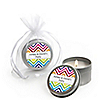 Chevron Rainbow - Personalized Everyday Party Candle Tin Favors