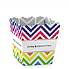Chevron Rainbow - Personalized Everyday Party Candy Boxes