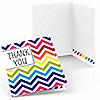 Chevron Rainbow - Everyday Party Thank You Cards - 8 ct