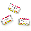 Chevron Rainbow - Personalized Everyday Party Mini Candy Bar Wrapper Favors - 20 ct