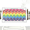 Chevron Rainbow - Personalized Everyday Party Placemats
