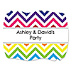 Chevron Rainbow - Personalized Everyday Party Squiggle Stickers - 16 ct