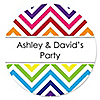 Chevron Rainbow - Personalized Everyday Party Sticker Labels - 24 ct