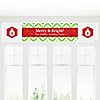 Merry & Bright - Chevron Red and Green - Personalized Christmas Party Banners