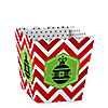 Merry & Bright - Chevron Red and Green - Christmas Party Candy Boxes