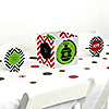 Merry & Bright - Chevron Red and Green - Christmas Party Centerpiece & Table Decoration Kit