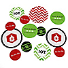 Merry & Bright - Chevron Red and Green - Personalized Christmas Party Table Confetti - 27 ct