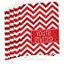 Chevron Red - Baby Shower Fill In Invitations - 8 ct