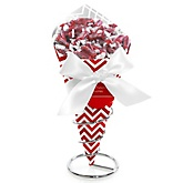 Red Chevron - Baby Shower Candy Bouquets with Frooties