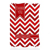 Red Chevron - Personalized Baby Shower Thank You Cards