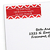 Chevron Red - Personalized Birthday Party Return Address Labels - 30 ct