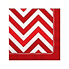 Chevron Red - Birthday Party Beverage Napkins - 16 ct