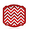 Chevron Red - Birthday Party Dessert Plates - 8 ct