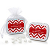 Chevron Red - Personalized Birthday Party Mint Tin Favors
