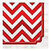 Chevron Red - Birthday Party Luncheon Napkins - 16 ct