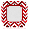 Chevron Red - Birthday Party Dinner Plates - 8 ct