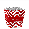 Chevron Red - Personalized Everyday Party Candy Boxes