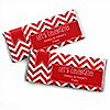 Chevron Red - Personalized Everyday Party Candy Bar Wrapper Favors