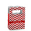 Chevron Red - Personalized Everyday Party Mini Favor Boxes