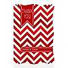 Chevron Red - Personalized Everyday Party Thank You Cards