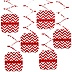 Red Chevron - Baby Shower Hanging Decorations - 6 Count