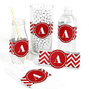 Chevron Red - DIY Party Wrappers - 15 ct