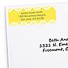 Chevron Yellow - Personalized Baby Shower Return Address Labels - 30 ct