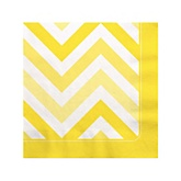 Yellow Chevron - Baby Shower Beverage Napkins - 16 Pack