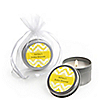 Chevron Yellow - Personalized Baby Shower Candle Tin Favors