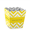 Chevron Yellow - Personalized Baby Shower Candy Boxes