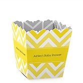 Yellow Chevron - Personalized Baby Shower Candy Boxes