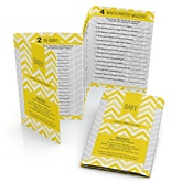 Chevron Yellow - Personalized Baby Shower Fabulous 5 Games