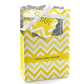 Yellow Chevron - Personalized Baby Shower Favor Boxes